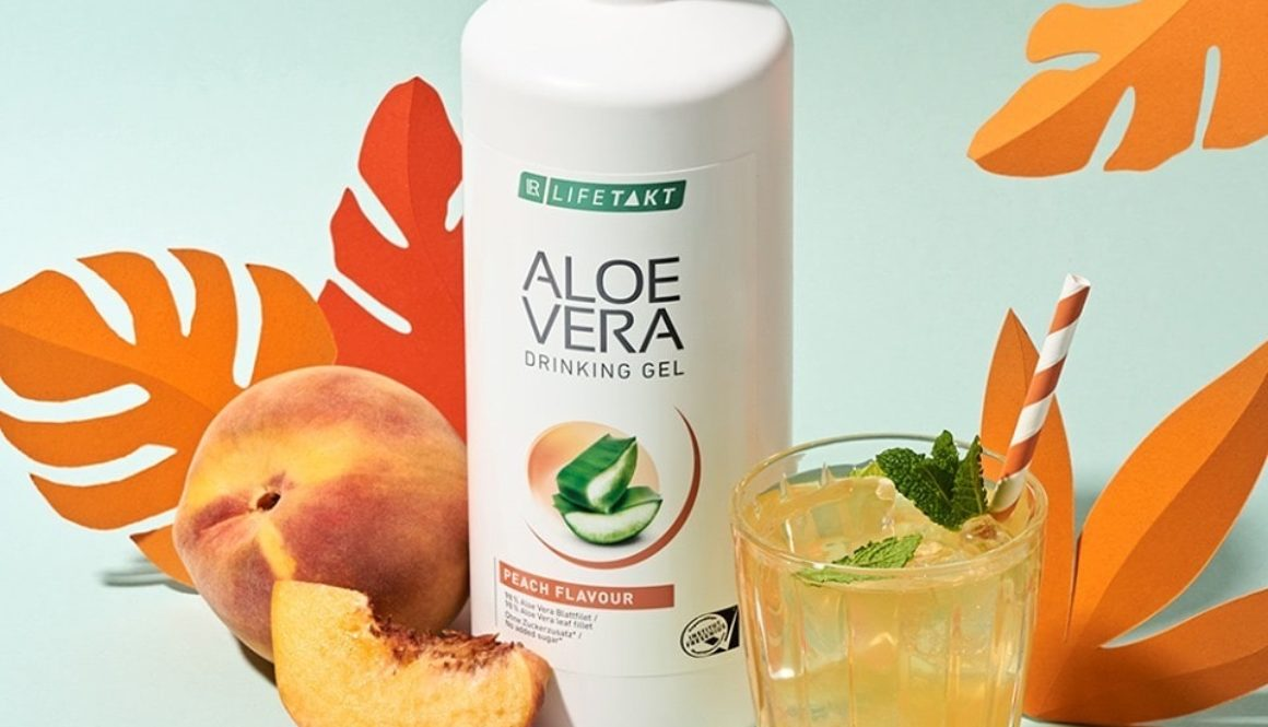 Aloe drinking ge peach_Health Party by LR_Алое за пиене праскова_за здраве